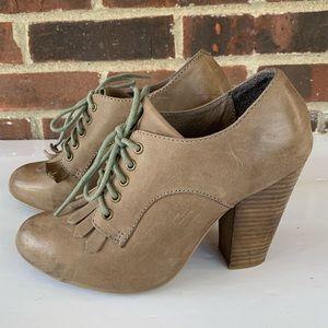 Aldo leather chunky heel ankle booties